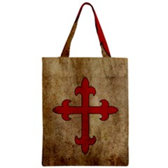 Crusader Cross Zipper Classic Tote Bag by Valentinaart