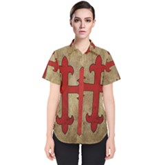 Crusader Cross Women s Short Sleeve Shirt