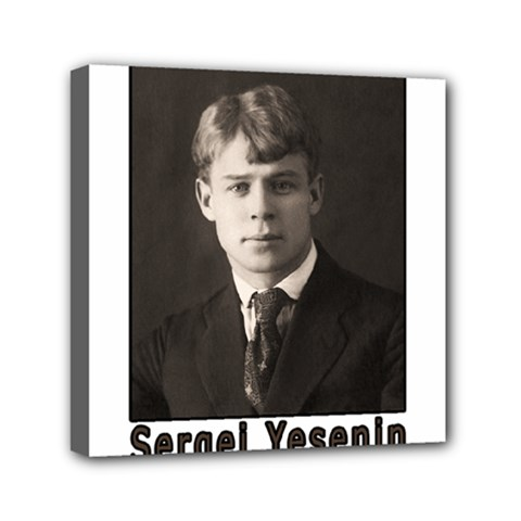 Sergei Yesenin Mini Canvas 6  X 6  by Valentinaart