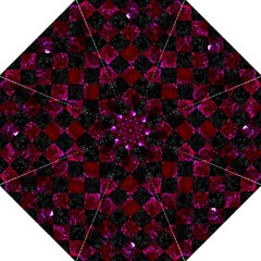 Square2 Black Marble & Burgundy Marble Golf Umbrellas by trendistuff