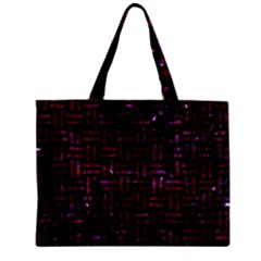 Woven1 Black Marble & Burgundy Marble Zipper Mini Tote Bag by trendistuff