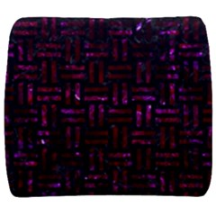 Woven1 Black Marble & Burgundy Marble Back Support Cushion by trendistuff