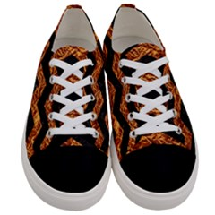 Chevron3 Black Marble & Copper Foil Women s Low Top Canvas Sneakers