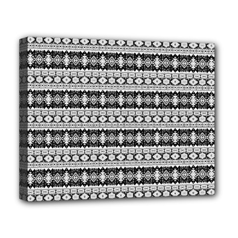 Fancy Tribal Border Pattern 17b Deluxe Canvas 20  X 16   by MoreColorsinLife