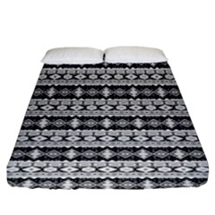 Fancy Tribal Border Pattern 17b Fitted Sheet (king Size) by MoreColorsinLife