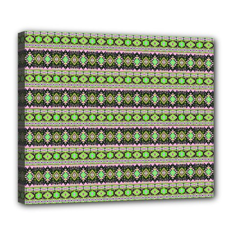 Fancy Tribal Border Pattern 17a Deluxe Canvas 24  X 20   by MoreColorsinLife