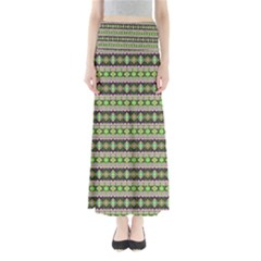 Fancy Tribal Border Pattern 17a Full Length Maxi Skirt by MoreColorsinLife