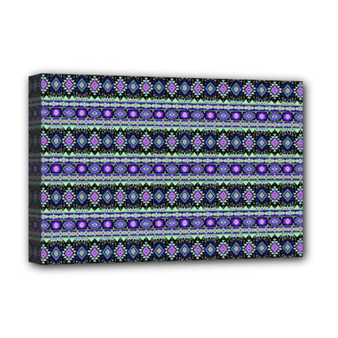 Fancy Tribal Border Pattern 17d Deluxe Canvas 18  X 12   by MoreColorsinLife
