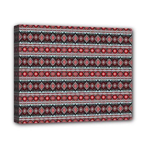 Fancy Tribal Border Pattern 17f Canvas 10  X 8  by MoreColorsinLife
