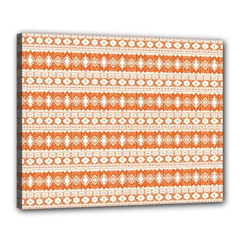Fancy Tribal Border Pattern 17i Canvas 20  X 16  by MoreColorsinLife