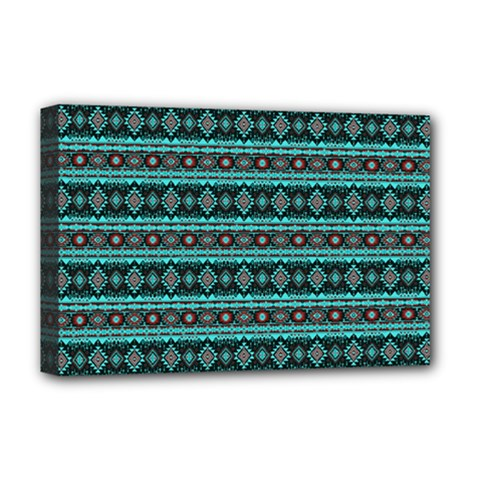 Fancy Tribal Border Pattern 17g Deluxe Canvas 18  X 12   by MoreColorsinLife
