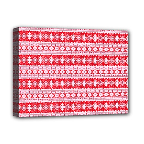 Fancy Tribal Border Pattern 17h Deluxe Canvas 16  X 12   by MoreColorsinLife