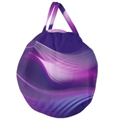 Abstract Purple Giant Round Zipper Tote by AllOverIt