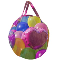 Balloons Giant Round Zipper Tote by AllOverIt