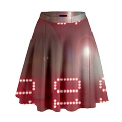 Numbers Game High Waist Skirt by norastpatrick