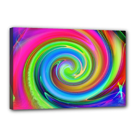Rainbow Twist Canvas 18  X 12  by norastpatrick