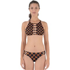 Circles2 Black Marble & Copper Foil (r) Perfectly Cut Out Bikini Set by trendistuff
