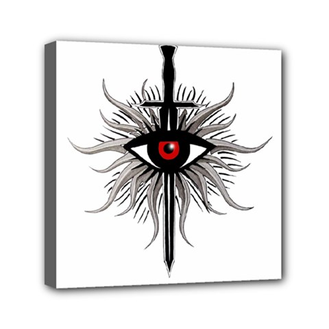 Inquisition Symbol Mini Canvas 6  X 6  by Valentinaart