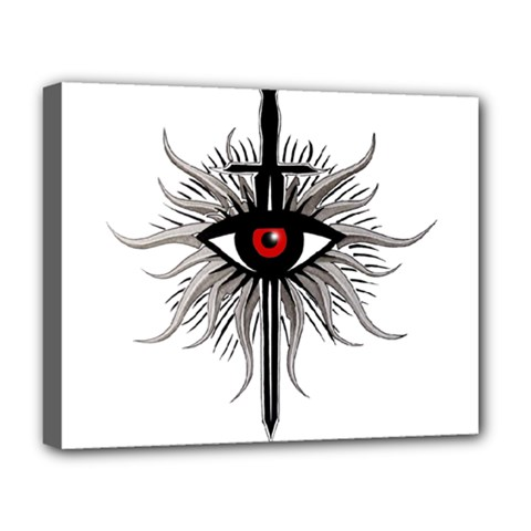 Inquisition Symbol Deluxe Canvas 20  X 16   by Valentinaart