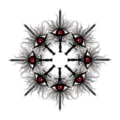 Inquisition Symbol Golf Umbrellas by Valentinaart