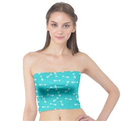 Fish Bones Pattern Tube Top by ValentinaDesign