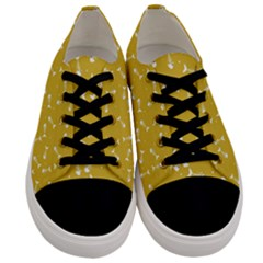 Fish Bones Pattern Men s Low Top Canvas Sneakers