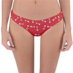 Fish Bones Pattern Reversible Hipster Bikini Bottoms by ValentinaDesign