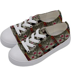 Wings Of Love In Peace And Freedom Kids  Low Top Canvas Sneakers by pepitasart