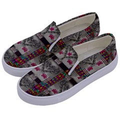 Wings Of Love In Peace And Freedom Kids  Canvas Slip Ons by pepitasart