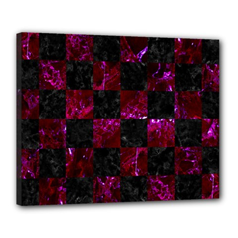 Square1 Black Marble & Burgundy Marble Canvas 20  X 16  by trendistuff
