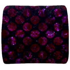 Circles2 Black Marble & Burgundy Marble Back Support Cushion