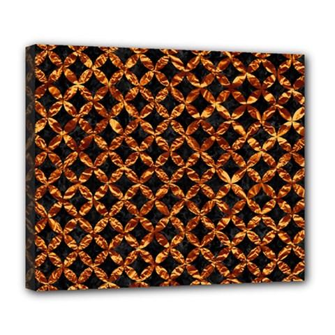 Circle3 Black Marble & Copper Foilper Foil Deluxe Canvas 24  X 20