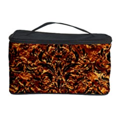 Damask1 Black Marble & Copper Foil (r) Cosmetic Storage Case by trendistuff