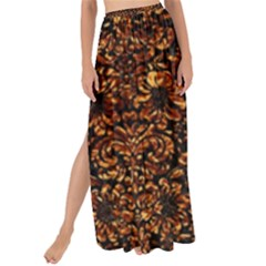 Damask2 Black Marble & Copper Foil Maxi Chiffon Tie Up Sarong