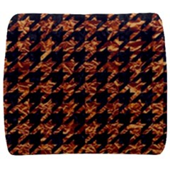 Houndstooth1 Black Marble & Copper Foil Back Support Cushion