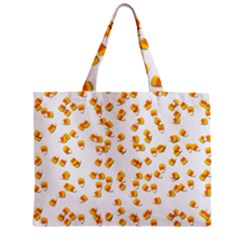 Candy Corn Zipper Mini Tote Bag by Valentinaart