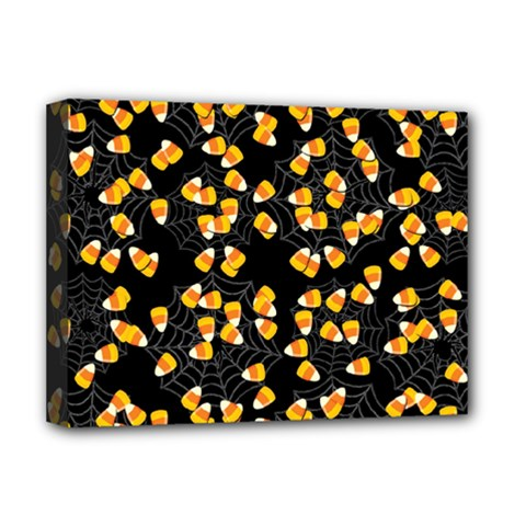 Candy Corn Deluxe Canvas 16  X 12   by Valentinaart