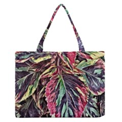 Dreamy Floral 7 Zipper Medium Tote Bag by MoreColorsinLife