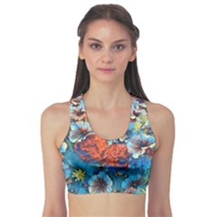 Dreamy Floral 3 Sports Bra by MoreColorsinLife