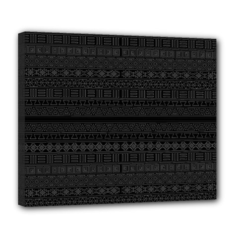 Aztec Influence Pattern Deluxe Canvas 24  X 20   by ValentinaDesign