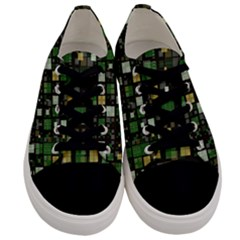 Small Geo Fun C Men s Low Top Canvas Sneakers