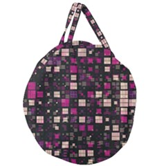 Small Geo Fun D Giant Round Zipper Tote