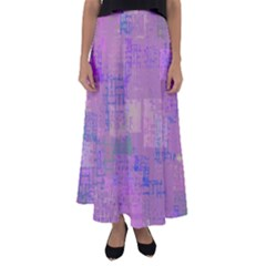 Abstract Art Flared Maxi Skirt