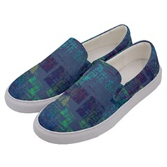 Abstract Art Men s Canvas Slip Ons by ValentinaDesign