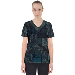 Abstract Art Scrub Top