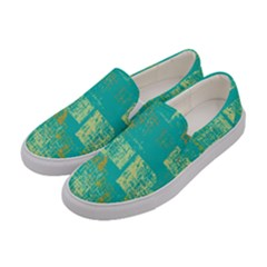 Abstract Art Women s Canvas Slip Ons by ValentinaDesign