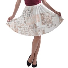 Abstract Art A Line Skater Skirt