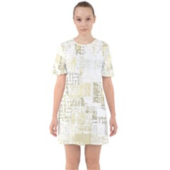 Abstract Art Sixties Short Sleeve Mini Dress