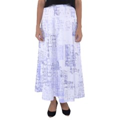 Abstract Art Flared Maxi Skirt by ValentinaDesign