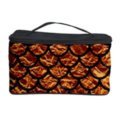 Scales1 Black Marble & Copper Foil (r) Cosmetic Storage Case